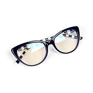 La Vie Handmade Acetate Glasses perfect for Girls Handmade Original Brand Design Fashion Trend Young Women Glasses (Blue)
