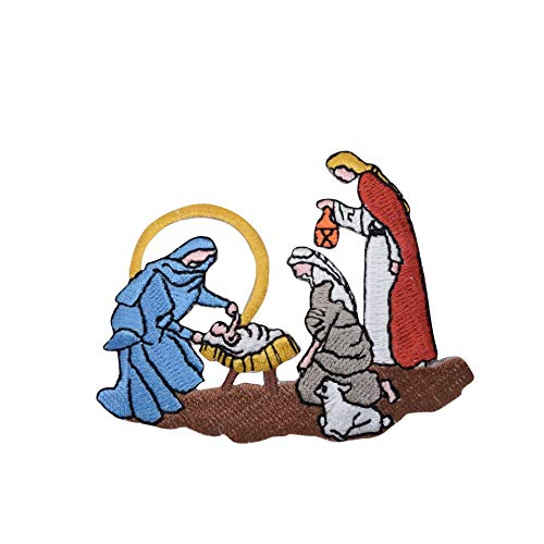 Nativity Scene - Baby Jesus - Holy Family - Christmas - Iron on Applique/Embroidered Patch