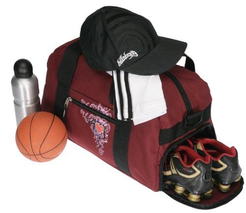 Sporttasche ELEPHANT HEART Tasche Schulsporttasche 47 cm Sport Bag Red-VIOLETT