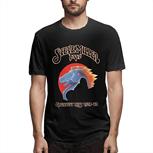 Eilli Retro Steve-Miller-Band Vintage T Shirt TeeXXL Black]()