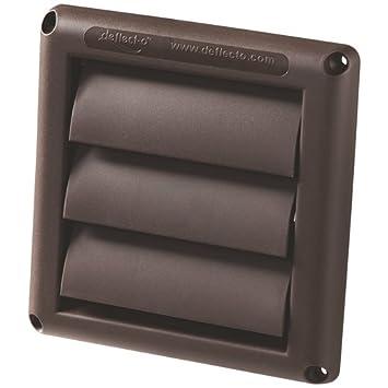 Deflect O HS3B/48   3u0026quot; Brown Supurr Vent Louvered Hood Bathroom