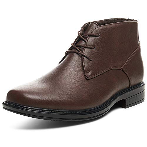 Alpine Swiss Men's Brown Leather Lined Dressy Ankle Boots 13 M US ()