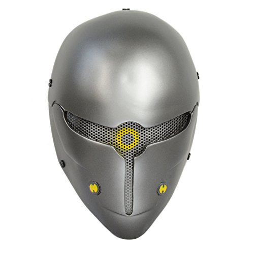[Brand New Wire Mesh Gray Full Face Protection Paintball CS Airsoft Sci-fi Robot Mask Halloween Prop] (Sci Fi Halloween)