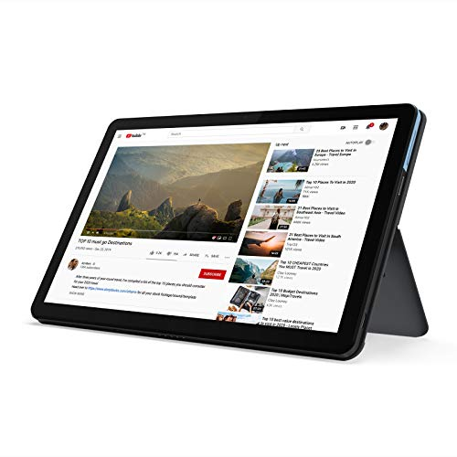 "Lenovo Chromebook Duet 2-in-1 Tablet 10.1"" FHD Touchscreen Laptop Computer, MediaTek Helio P60T Octa-Core, 4GB LPDDR4X RAM, 64GB eMCP, Webcam, Chrome OS, BROAGE 8GB Flash Stylus, Online Class Ready"