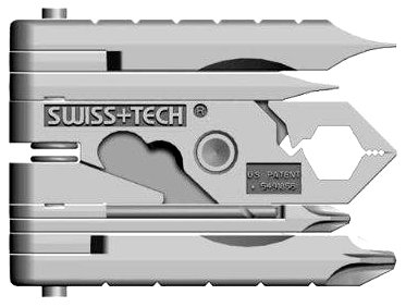 Swiss+Tech ST53100 Micro-Max 19-in-1 Keychain Multitool, Outdoor Stuffs