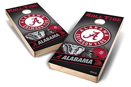- PROLINE NCAA College 2' x 4' Alabama Crimson Tide Cornhole Board Set - Wild