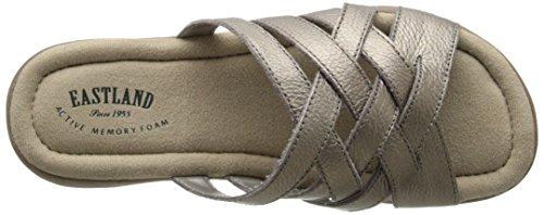 Sandalo In Pelle Di Sandalo Donna Delle Terre Dellest, In Peltro