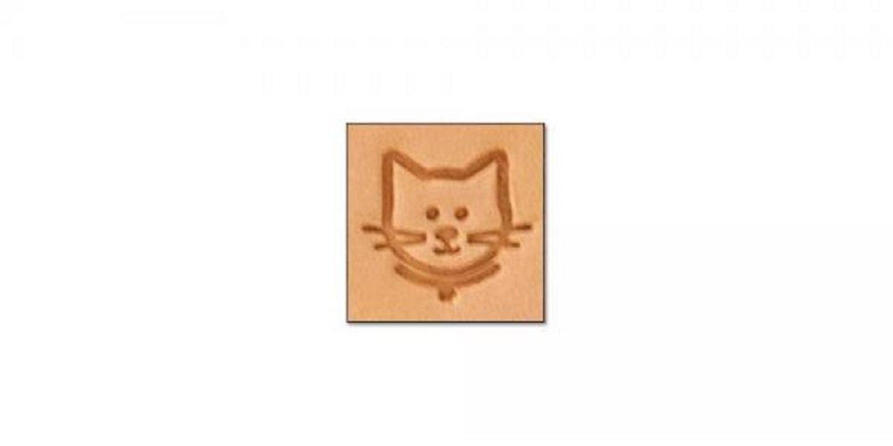 Tandy Leather Craftool Mini 2-D Stamp Cat