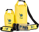 Bago See Through Dry Bags with Adjustable Shoulder Strap and Phone Dry Bag, Yellow 5L / 10L