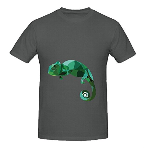 Lizard Cartoon Men O Neck Graphic Shirts -