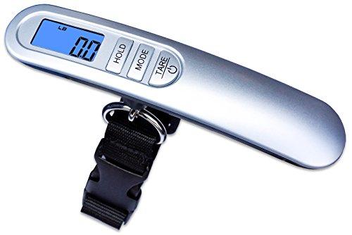 Weighmax HC110 Premium Universal Digital Luggage Scale, 110lb, Silver by Weighmax