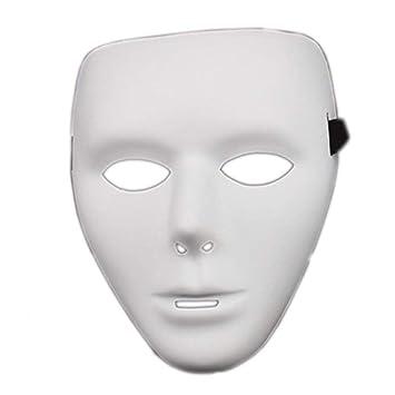 White Half Face Mask Phantom Of The Opera Mens Ladies Theatre Drama Halloween