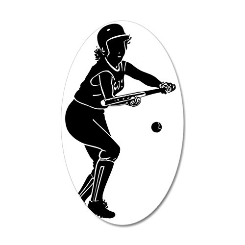 CafePress - 2102566_1-35x21 Oval Wall Decal, Vinyl Wall Peel, Reusable Wall Cling ()