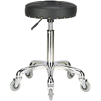 Amazon Com Well Cushioned Adjustable Rolling Stool With