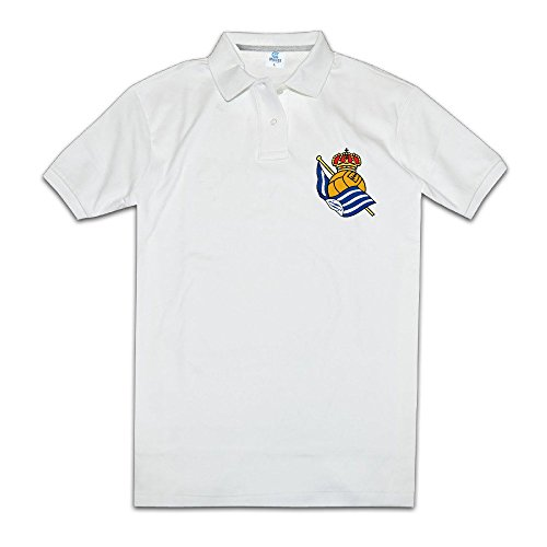 Men's Real Sociedad Logo Customize Polo Shirt Size L