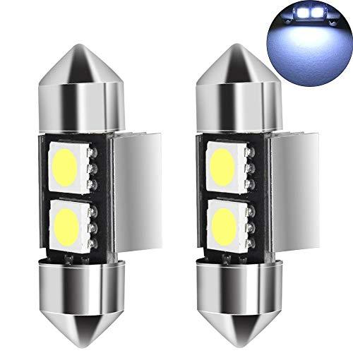 [해외]�� 양 자동차 교체 슈퍼 밝은 31MM LED 인테리어 페 줄 5050 칩 2 Smd LED 전구 빛 LED 전구 독서 인테리어 라이트 지도 돔 조명 전구 꽃 장식 LED 전구 LED 마커 조명 차가운 화이트 2Pcs / shunyang Car Replacement Super Bright 31MM LED Interi...