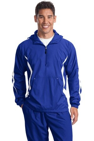 Sport Anorak - Sport-Tek Men's Big Weather Protection Anorak Jacket, True Royal/White, XX-Large