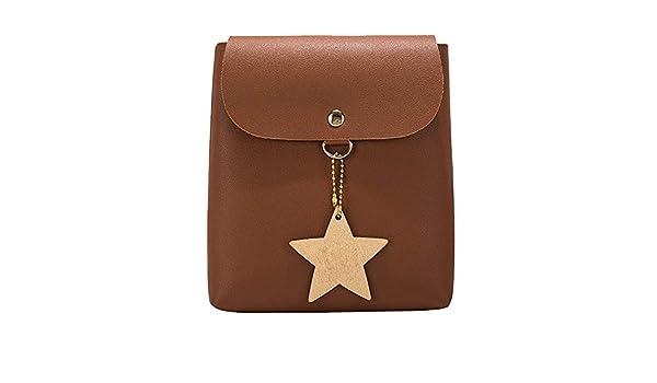 Amazon.com: Women ShoulderBag Messenger Satchel Tote Crossbody Bag leather Phone Bag Bucket Bag female messenger shoulder bag bolsos #75 Color Brown ...