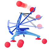 BonyTek Desktop Mechanical Catapult Toys Battle Kit Tabletop Target Shooting Game With 6 Foam Balls For Kids Boys Girls Children Adults Science Physics Educational Learning Fun Games For Home Office