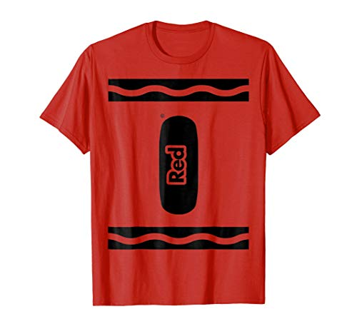 RED Crayon Halloween Costume T-shirt Matching Shirts -