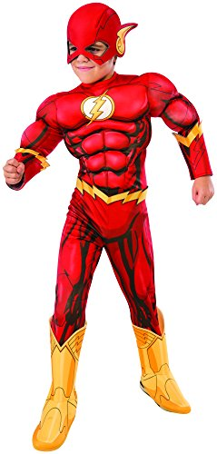 Rubie's Costume DC Superheroes Flash Deluxe Child Costume, (Cool Halloween Costumes To Make)