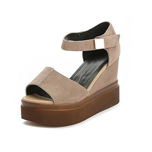 c36abd3d Sandalias de cuña Zapatos de tacón alto nuevos de verano de las mujeres  Sandalias romanas de ...