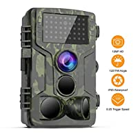 VICTONY Trail Game Camera 1080P HD IP65 Waterproof Scouting Camera, 120°Wide Angle PIR Sensor Motion Activated Night Vision Hunting Camera for Wildlife and Home Surveillance (Olive)