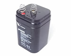 American Hunter Lantern 6 Volt 5 AMP HR (5 AH) Rechargeable Battery (Black) by Vision Battery