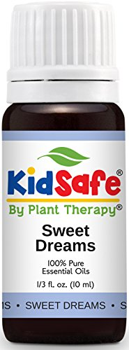 Plant Therapy KidSafe Sweet Dreams Synergy Essential Oil Blend. 100% Pure, Undilated, Therapeutic Grade. Blend of: Orange, Juniper, Coriander, Blue Tansy and Rose Absolute. 10 ml (1/3 - Dream Oil