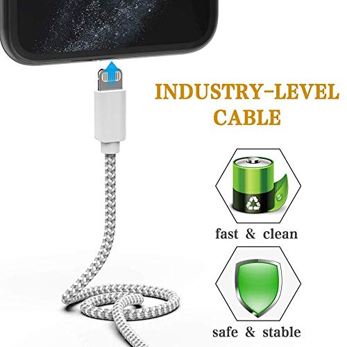 MFi Certified Lightning Cable 5 Pack iPhone Charger Charging USB Syncing Denim Braided Data Cable Compatible with iPhone 11//Pro//Xs Max//X//XS//XR//XS Max//8//8 Plus//7//7 Plus//6//6S//6 Plus 3//3//6//6//10FT
