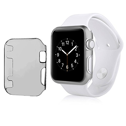 Snap Watch Series (Apple Watch Series 1 42mm Case, Insten Crystal Clear [Thin Fit] [Anti-Shock] [All Around Protection] Snap-in Hard Case Cover for Apple Watch / Watch Sport 42mm, Clear Black)