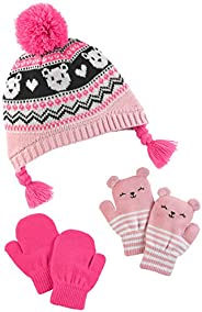 Simple Joys by Carter's Girls Hat and Mitten Set Cold Weather