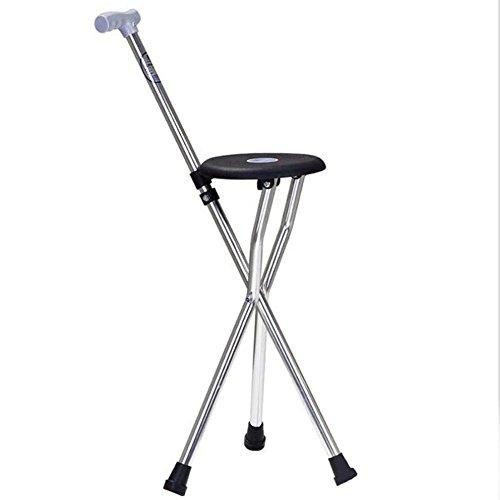 WW Crutch Chair Aluminum Alloy Non-Slip Rubber Lightweight Walking Aid Medical Care Elderly Crutch by CW&T
