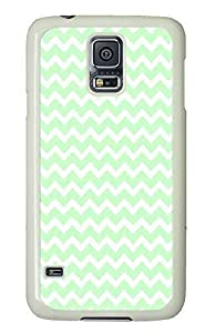 Samsung Galaxy S5 carry cover Cool Green Chevron PC White Custom Samsung Galaxy S5 Case Cover