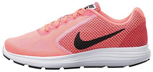Nike Wmns Revolution 3, Zapatillas de Trail Running Para Mujer, Rosa (Hot Punch/Black/Aluminum/White 602), 42.5 EU