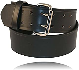 "product image for Boston Leather 6503-1-38 Explorer 2-1/4"" Duty Belt Plain Black Size 38"""