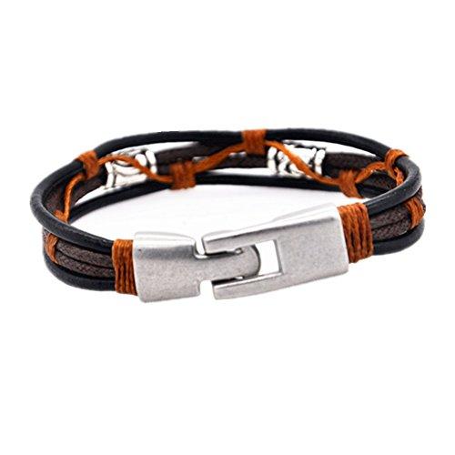 MULBA Hommes Bracelet en cuir vintage Bracelet pour les garçons Sl3373