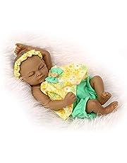 gfjfghfjfh 26cm Full Body Soft Silicone Vinyl Realistische Peuter Pasgeboren Babypop Speelgoed Reborn Baby Girl Doll Niet-giftig Kinderen Spelen Speelgoed