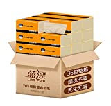 Raw Wood Pulp Natural 3-Layers Paper Towels 36 Packs Skin Care More Hygroscopic No Additives Multifold Tissue