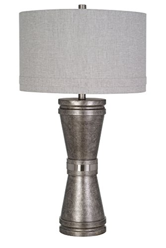 Catalina Lighting 20706-001 20722-000 Tapered Base Table Lamp, with with Bulb,