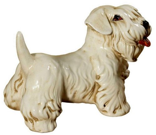 Intrada of Italy Adorable *Mini Sealyham Terrier* Dog Figurine Hand Made in Italy Sealyham Terrier Dog Figurine