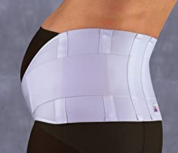 Gabrialla Elastic Maternity Belt, Strong Support, XX-Large, White