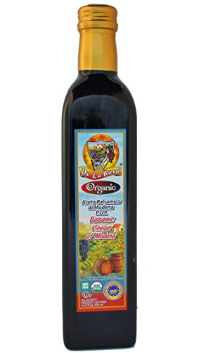 De La Rosa Real Foods & Vineyards - Organic Balsamic Vinegar of Modena (16.9 oz/500 ml)