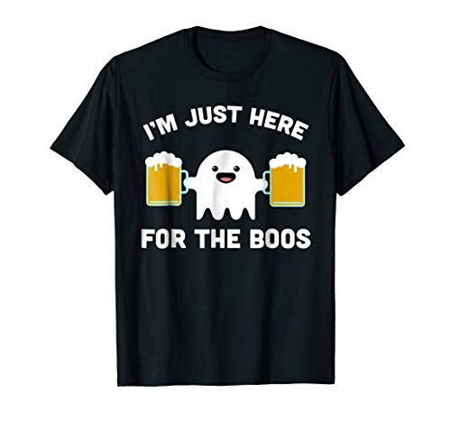 I'm Just Here for the Boos Shirt, Halloween Bartender Tshirt