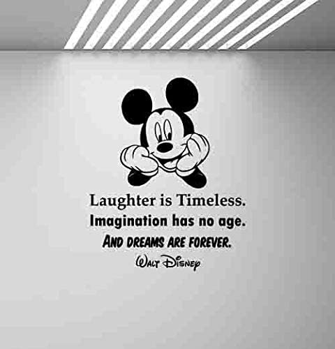 Laughter is timeless walt Disney Wall Quote Mickey Minnie vinyl decals Stickers