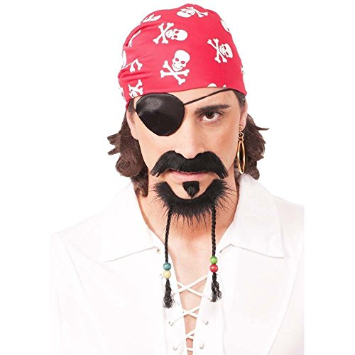 Forum Novelties 73608 Pirate Goatee Beard with Moustache, One Size -