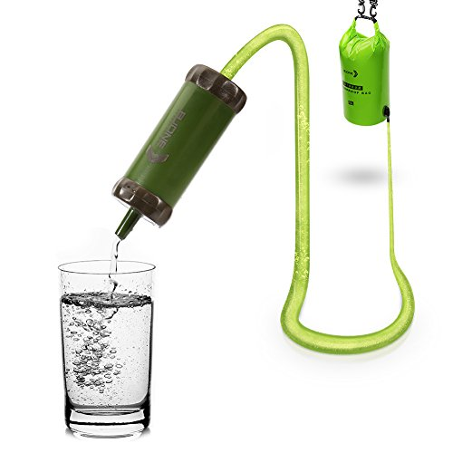 BJONE 15L Gravity Filter With Water Bag Gravity-Fed Water Purification System High-volume Water Purifier with a Shower for Camping, Backpacking, Traveling and Outdoor Activities.