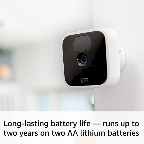 Wireless HD security camera with two-year battery life motion detection and two-way audio All-new Blink Indoor 1-Camera System