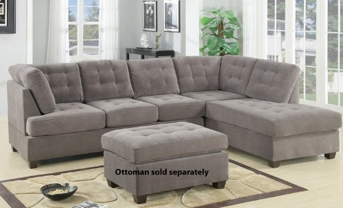 2-pc-charcoal-waffle-suede-fabric-upholstered-reversible-sectional-sofa-with-chaise-lounger