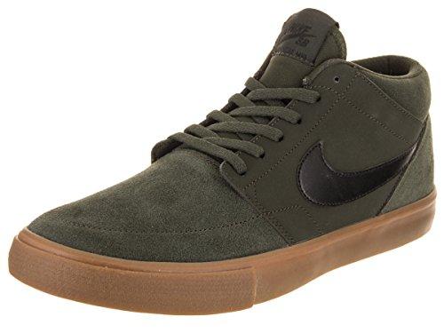 Nike Heren Sb Portmore Ii Solar Mid Skate Schoen Sequoia / Black-med Gum Brown